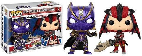 POP! Games Marvel Capcom 2-Pack Black Panther/Monster Hunter