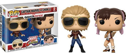 POP! Games Marvel Capcom 2-Pack Captain Marvel / Chun-Li