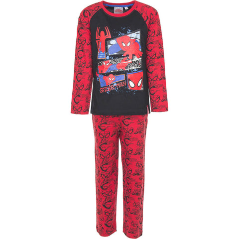 Spiderman Pyjamas Spidermotiver - Rød/Sort