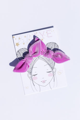 WISTERIA | VELVET PIGTAIL SET - HAND-TIED BOWS
