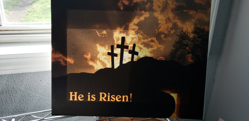He is Risen Canvas