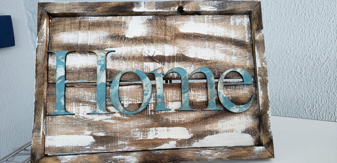 Wooden Home Sign