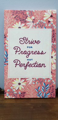 Strive for Progress not Perfection Canvas