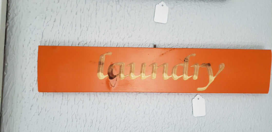 Laundry Carved Sign