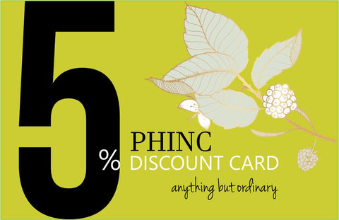 5% Phinc Discount Card