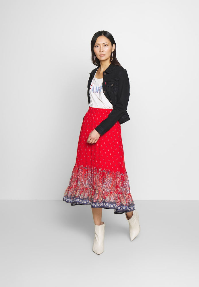 Nalita A-Line Skirt - Aurora Red