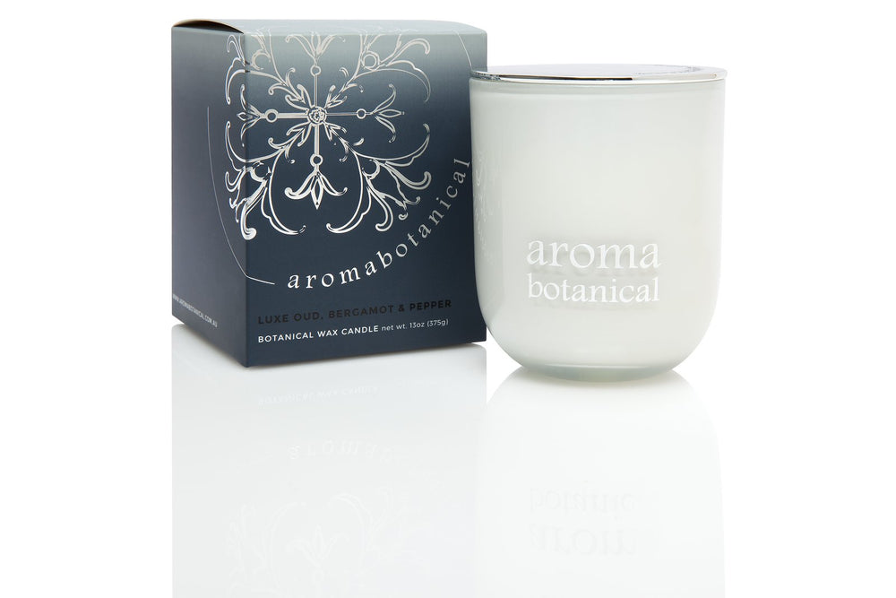 Glass Candle Medium - Oud, Bergamot & Pepper