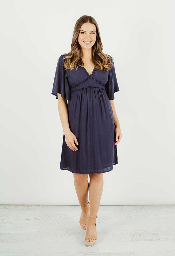 Moorea Dress - Navy