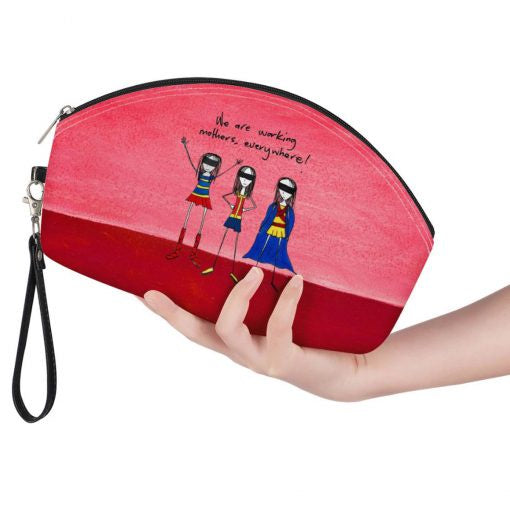 Curved Cosmetic Bag - Working Mothers