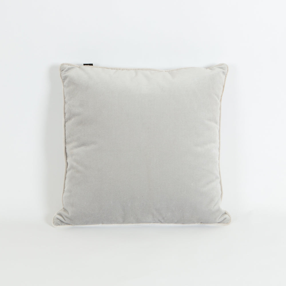 Velvet Cushion - Pebble Grey