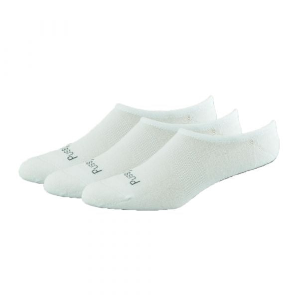 Bamboo Invisible Socks 3pk - White