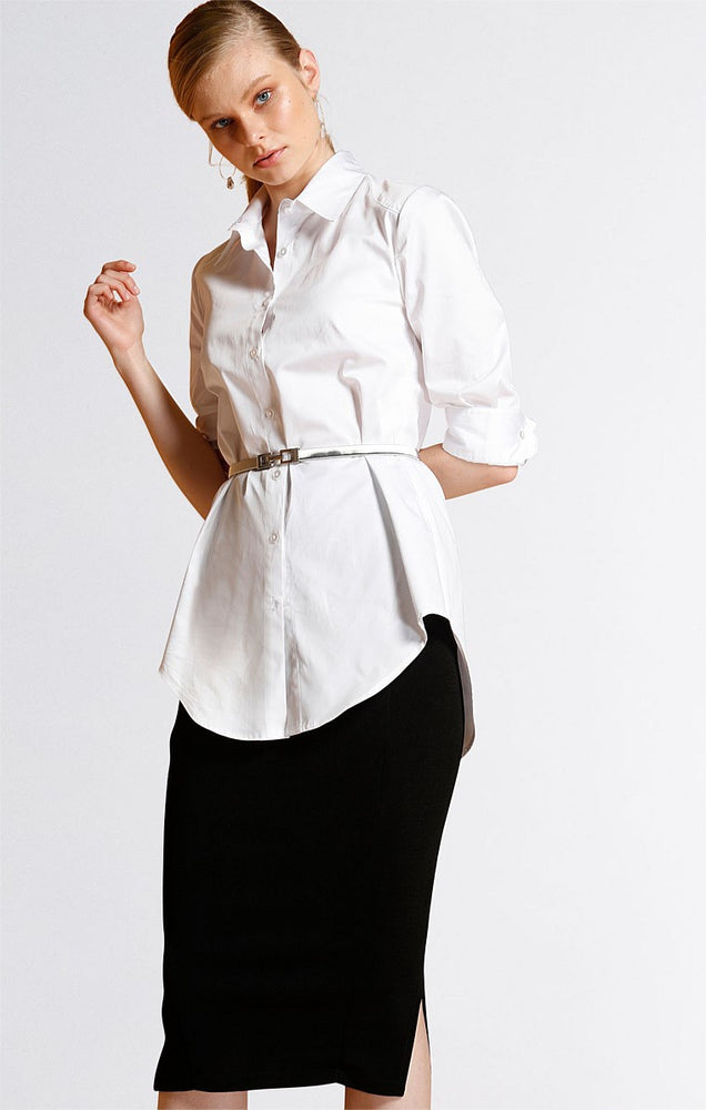3/4 Fitted Shirt - White