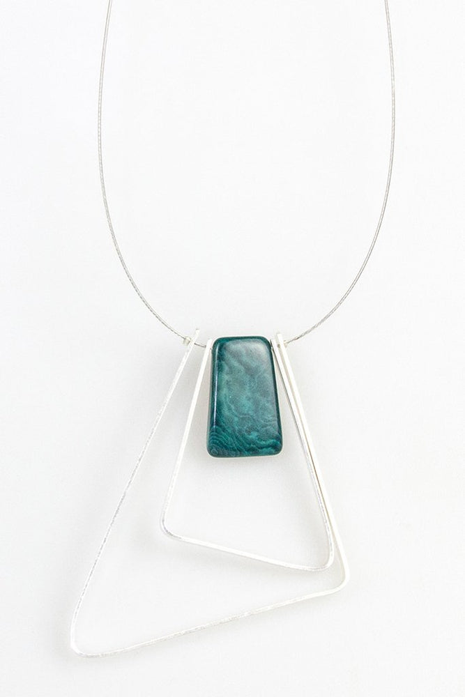 Tangua 2 Triangle Necklace - Turquoise