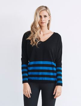 Montana Knit - Black/Cobalt