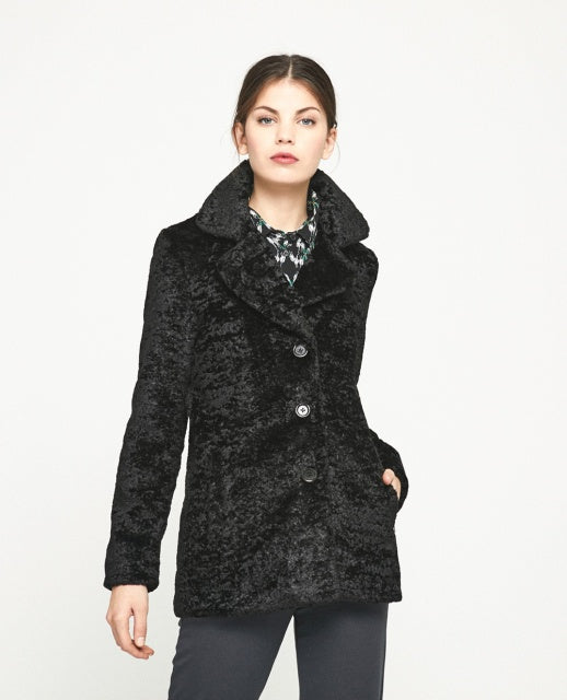 Foe Fur Jacket - Black