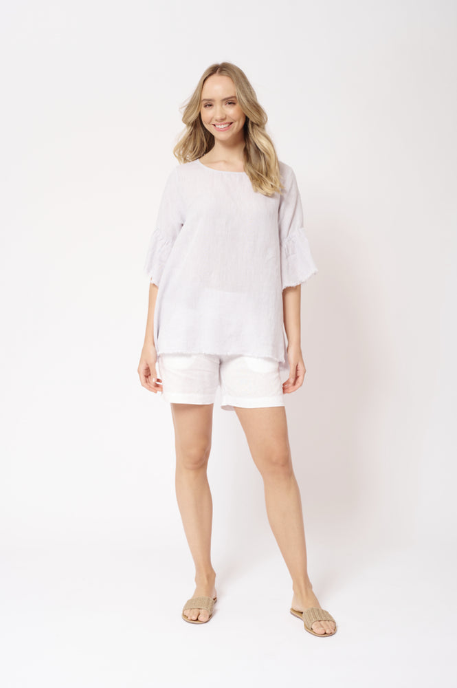 V-Neck Freedom Top - Silver Ash