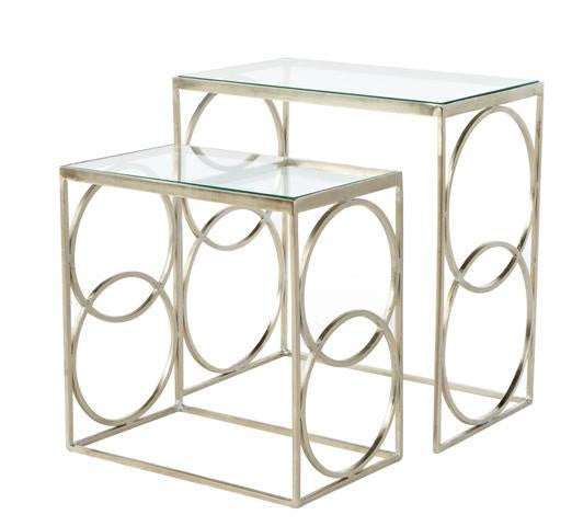 Deco Circle Nest Table - Gold