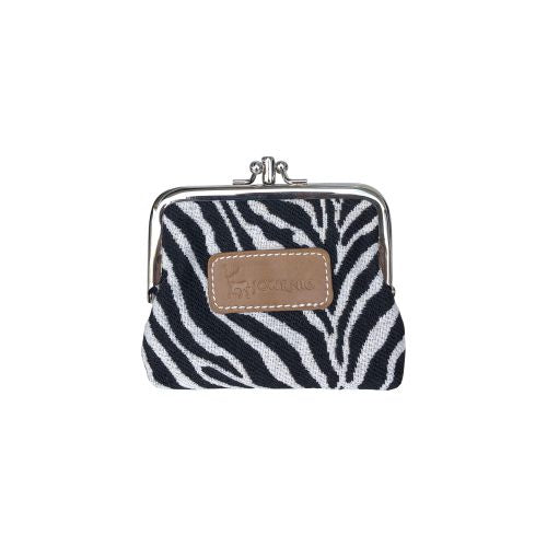 Prague Clip Purse - Tan/Zebra Print