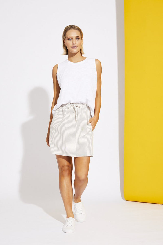 Monaco Mini Skirt - Beige