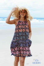 Mai Tai Sun Dress - Navy