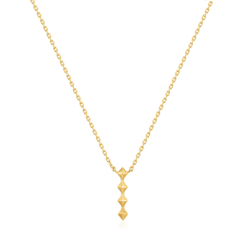 Spike It Up - Drop Necklace - Gold