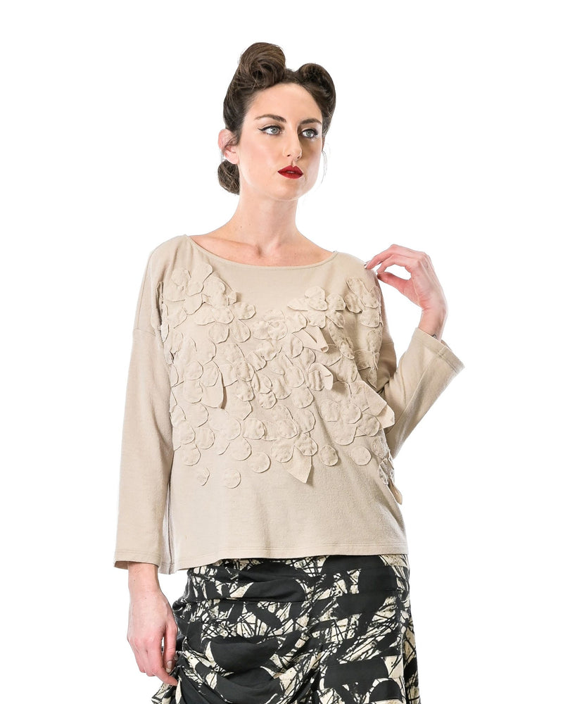 Flowers Box Jumper - Stone