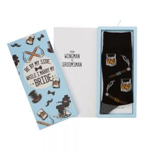 Men's Bamboo Sock Card - Groomsmen