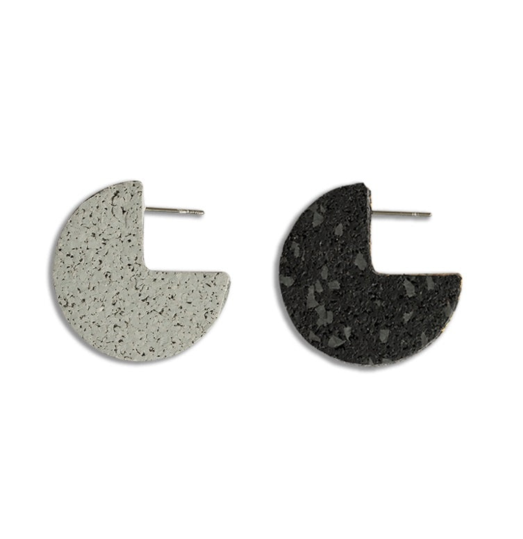 Light Pacman Studs - Grey/Black Specks