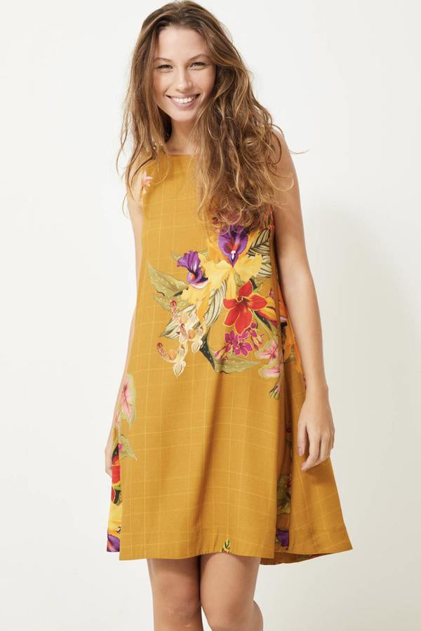 Marais Dress - Bouquet Gold