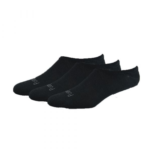Bamboo Invisible Sock 3pk - Black