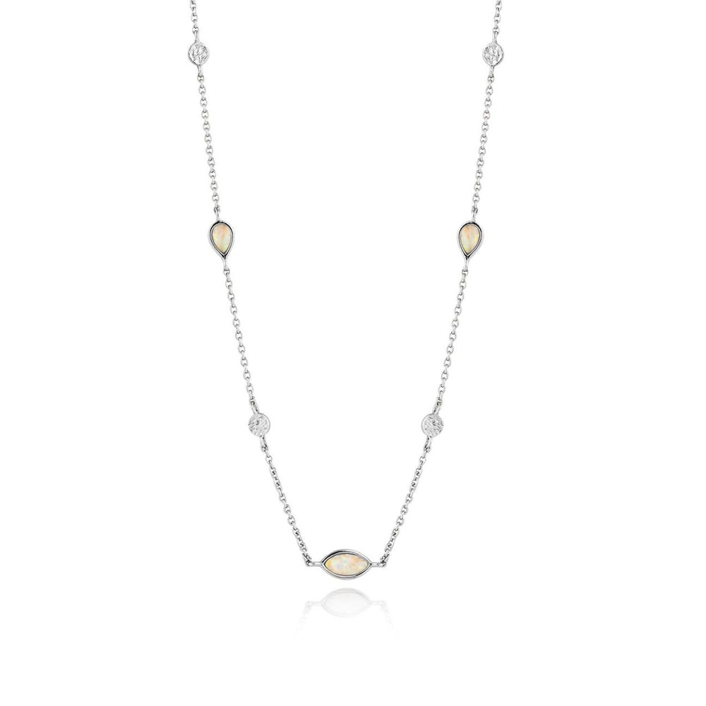 Opal Colour Necklace - Silver