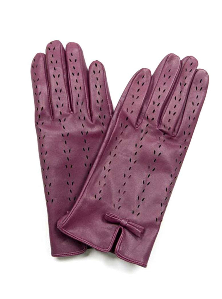 Leather Gloves - Mulberry