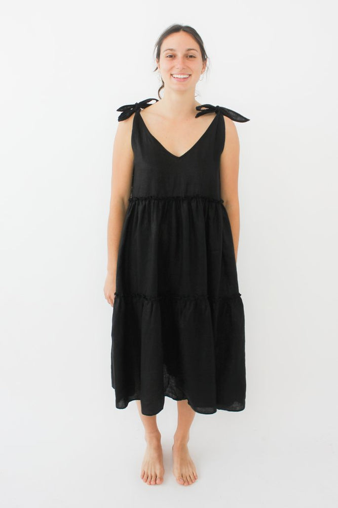 Santorini Dress In Lurex - Black