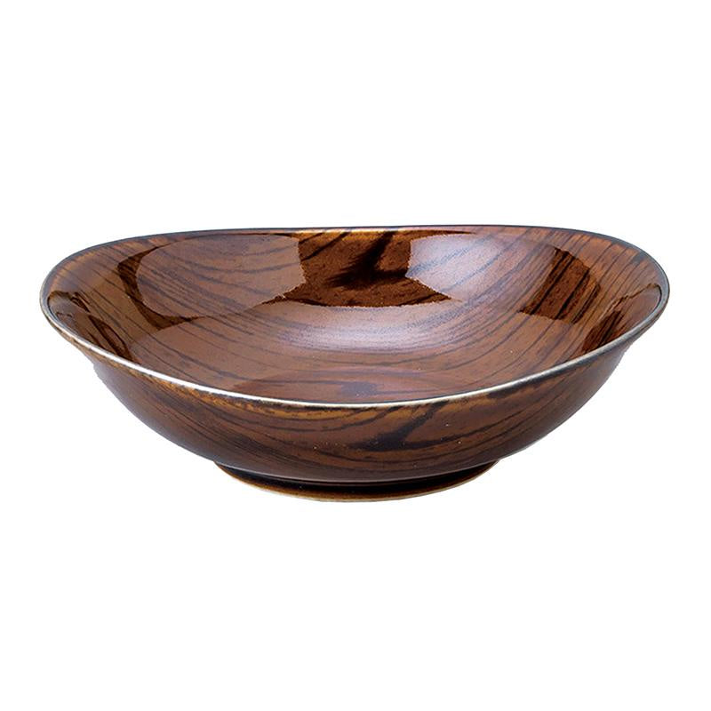 Dark Wood Look 15cm Bowl