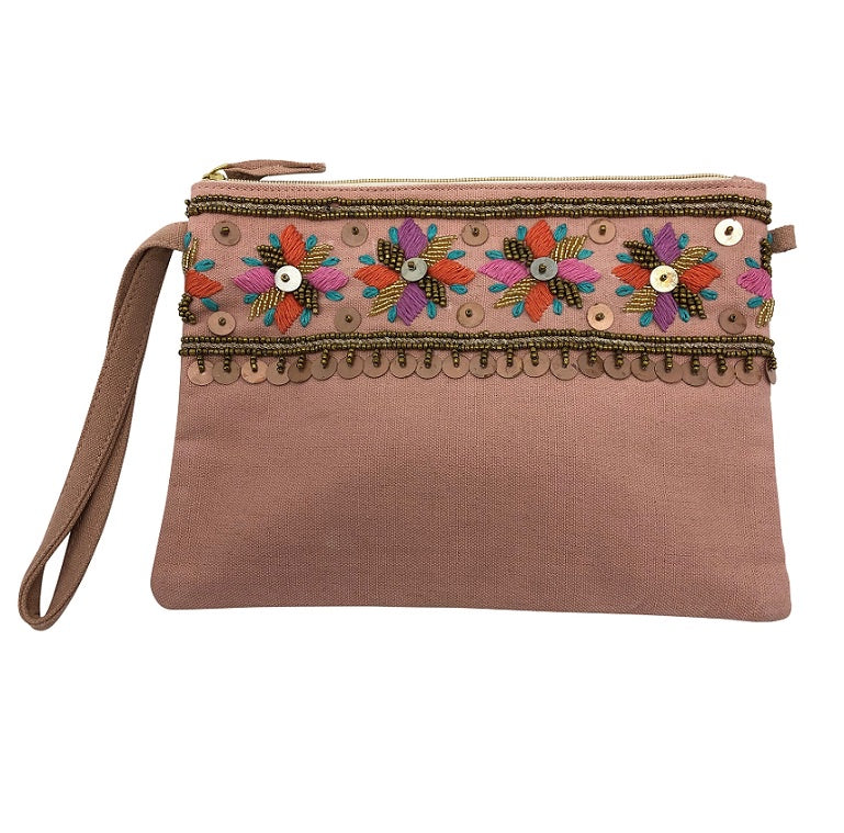 Bahama Clutch - Blush/Floral