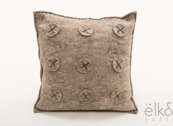 Mexico Felt Cushion - Natural