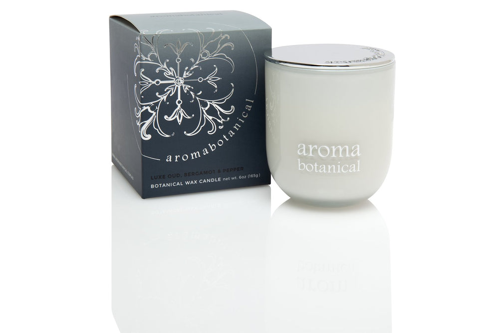 Glass Candle Small - Oud, Bergamot & Pepper