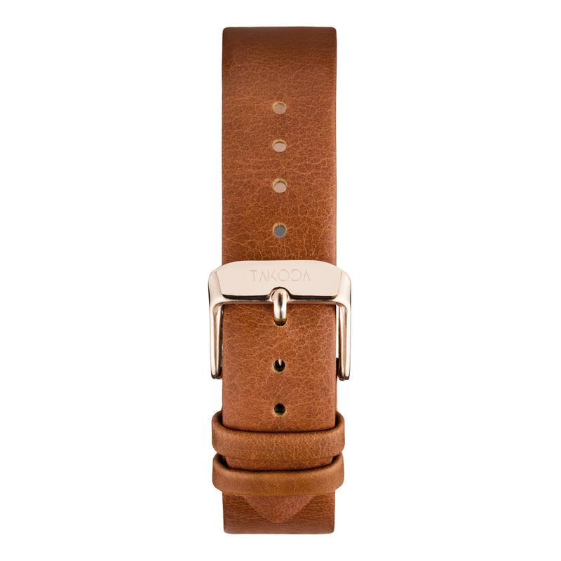 Genesis Watch Band - Tan/Rosegold