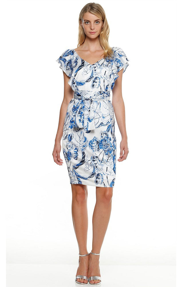 Jimson Dress - White/Blue