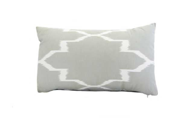 Unikko Cushion - Grey/White