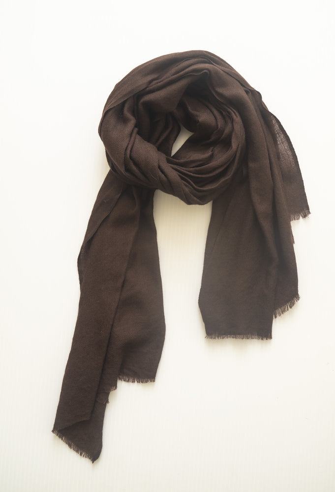 Opaque Scarf - Chocolate