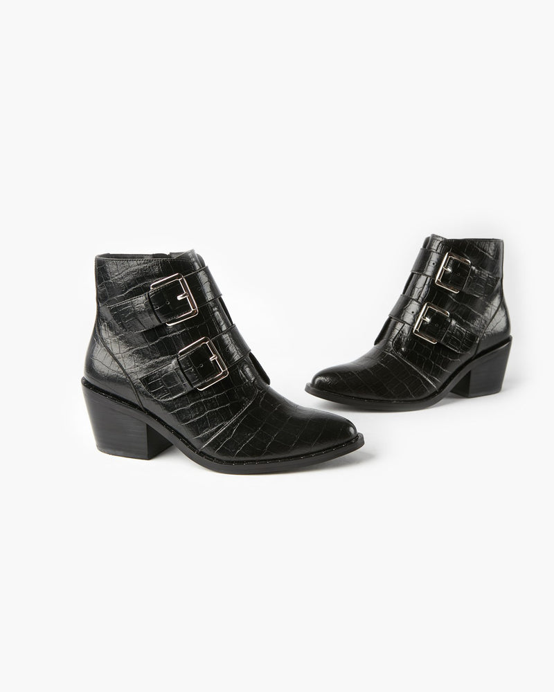 Whisper Boot - Black Croc