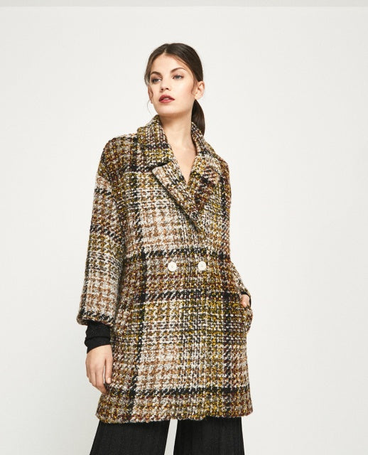Cuadro Crossed Coat - Mustard