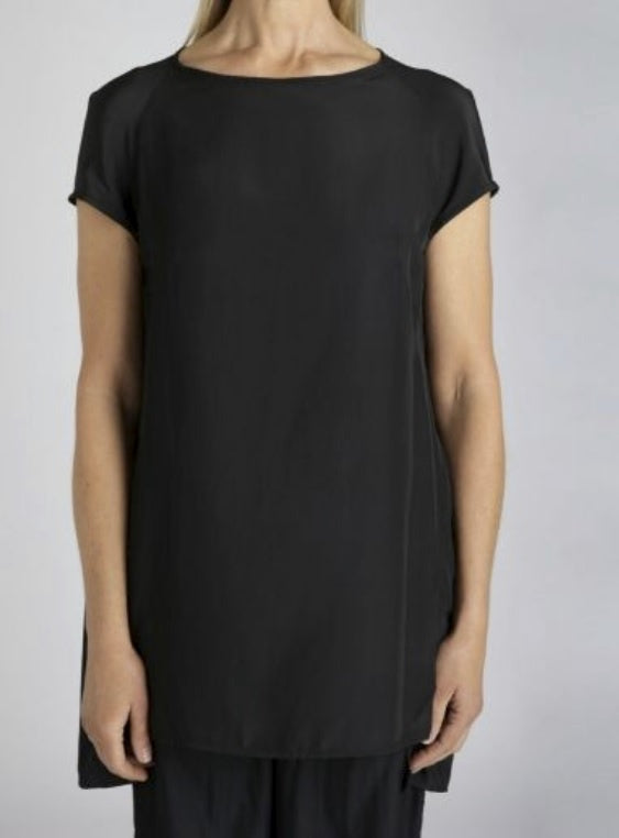 Liquid Cocoon Tunic - Charcoal