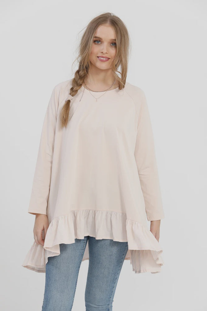 Ruby Ruffle Top - Blush