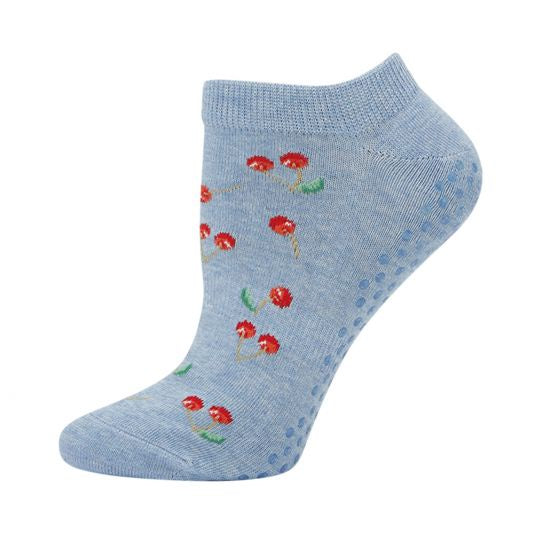 Womens Bamboo Yoga Sock - Cherry