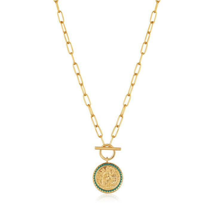 Gold Digger Emperor T-bar Necklace - Gold