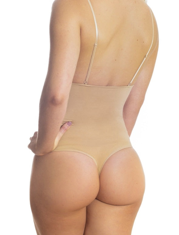 Shaping High Waist Thong - Nude