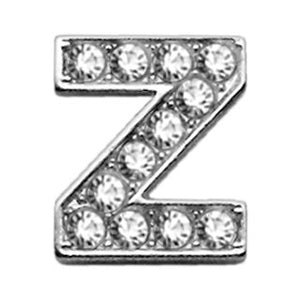 "3-8"" Clear Bling Letter Sliding Charms Z"