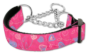 Crazy Hearts Nylon Collars Martingale
